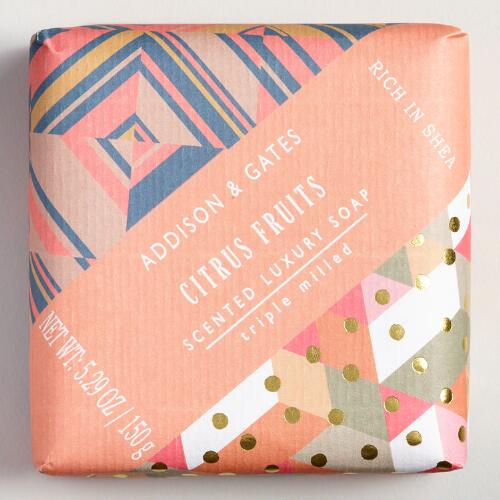 A&G Citrus Fruits Bar Soap Set of 2