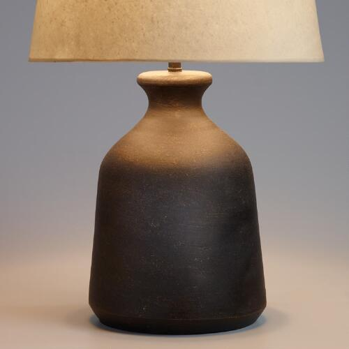 Black Terracotta Table Lamp Base