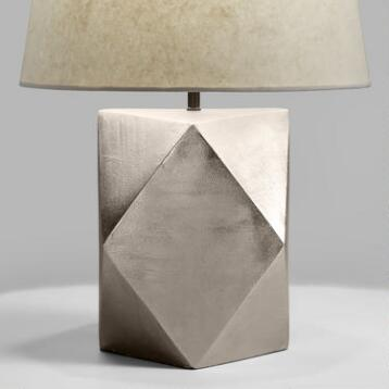 Faceted Pewter Flynn Table Lamp Base