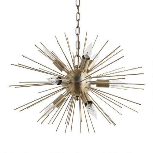 Brass Starburst Collin Chandelier