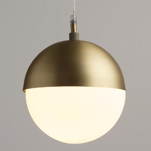 Frosted Glass Globe Hailey Pendant