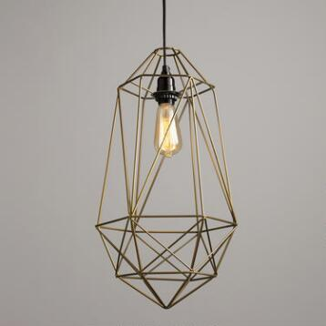 Gold Wire Geo Ryan Pendant Shade