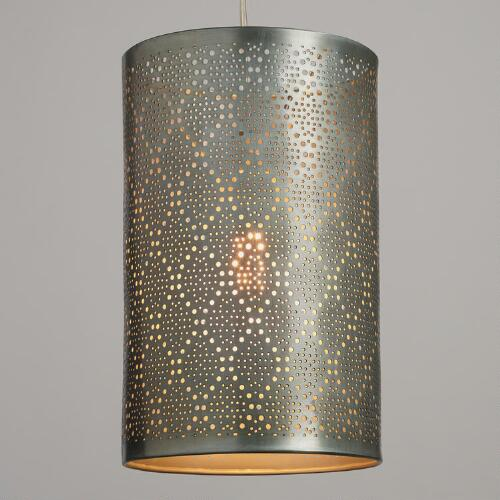 Pewter Pierced Metal Sita Pendant Shade