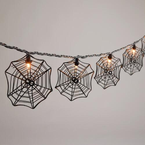 Spider Web 10 Bulb String Lights