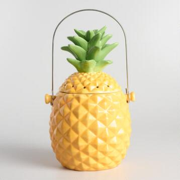 Pineapple Ceramic Compost Bin