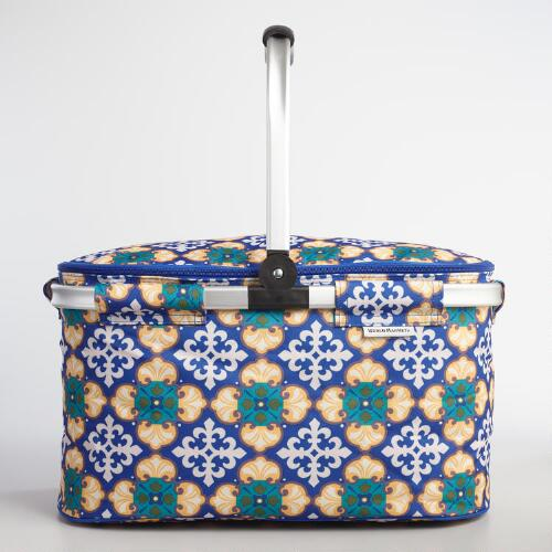 Ikat Tile Insulated Collapsible Tote Bag