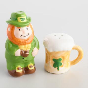 Ireland Ceramic Salt and Pepper Shaker Set