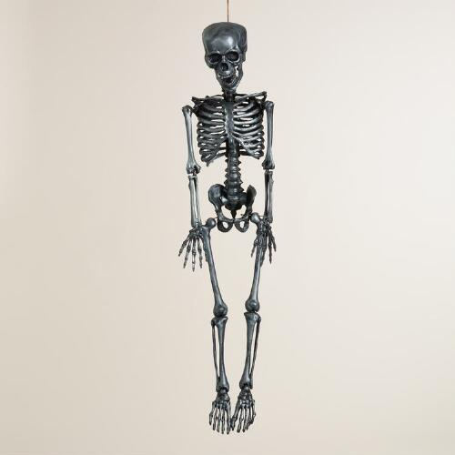 Silver Classic Hanging Skeleton