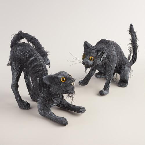 Black Mummy Cats Set of 2