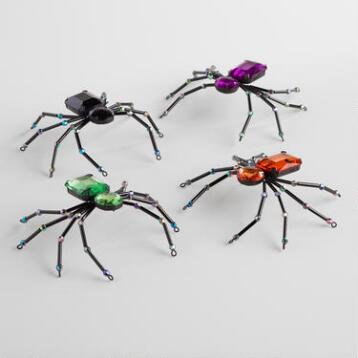 Jeweled Spiders Set of 4