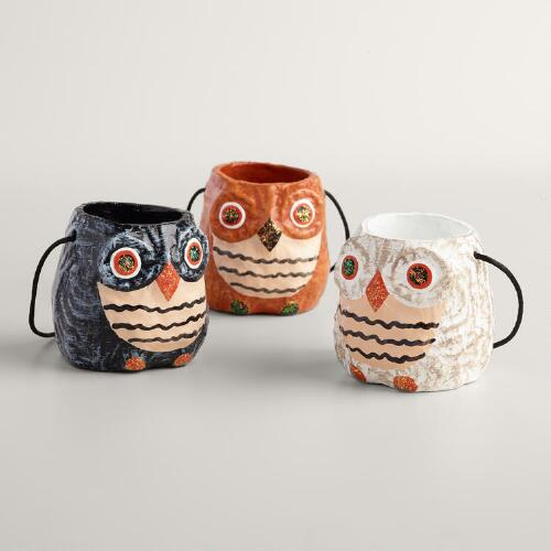 Paper Owl Containers Set of 3