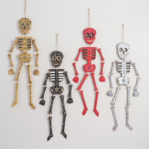 Wood Skeleton Wall Decor