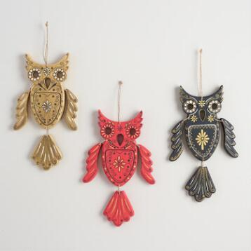 Wood Owl Wall Decor