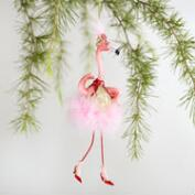 Glass Flamingo Dancer Ornaments Set of 2