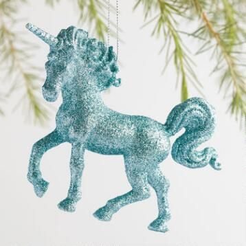 Glitter Unicorn Ornaments Set of 3