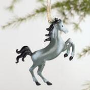 Metal Horse Ornaments Set of 4