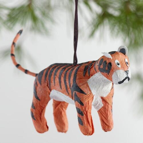 Paper Safari Animal Ornaments Set of 6