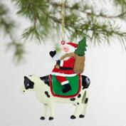 Metal Santa on Animal Ornaments Set of 3