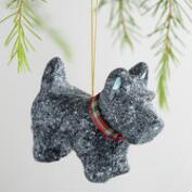 Paper Pulp Scottie Dog Ornaments Set of 2