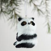 Fabric Panda Ornaments Set of 4