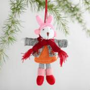 Felt Snow Bunny Ornaments Set of 2
