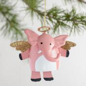 Metal Angel Elephant Dangle Legs Ornaments Set of 3