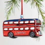 Glass London Bus Ornament