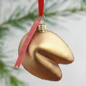 Glass Fortune Cookie  Ornament