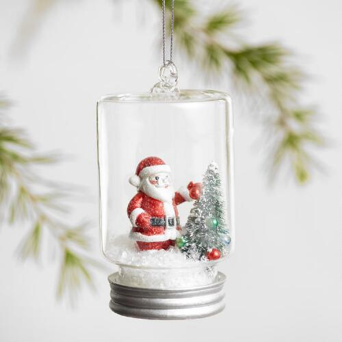 Glass Cloche Ornaments Set of 3