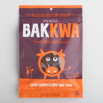 Little Red Dot Bak Kwa Spicy Chipotle Beef  Jerky
