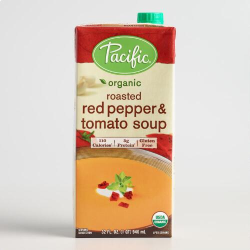 Pacific Soups Roasted Red Pepper and Tomato Soup Set of 2