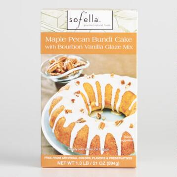 Sof'ella Maple Pecan Bundt Cake Mix Set of 2