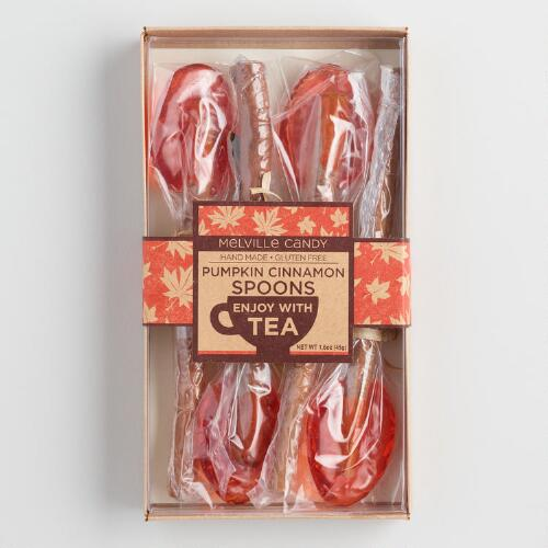 Melville Pumpkin and Cinnamon Candy Spoons 4 Pack