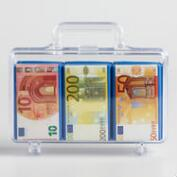 Heidel Chocolate Euros in Briefcase