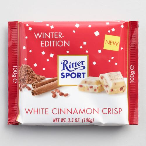 Ritter Sport White Chocolate with Cinnamon Crisps