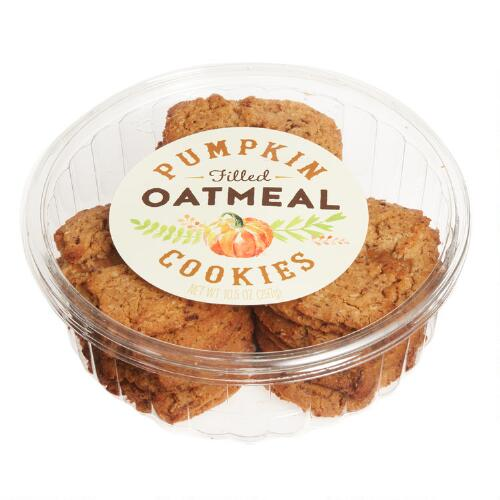 Pumpkin Filled Oatmeal Cookies