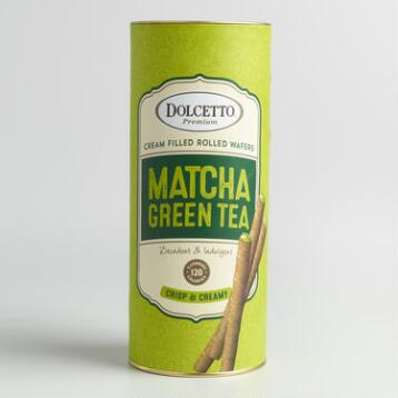 Dolcetto Matcha Green Tea Wafer Rolls
