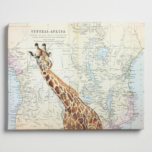 Giraffe Map by Jane Wilson