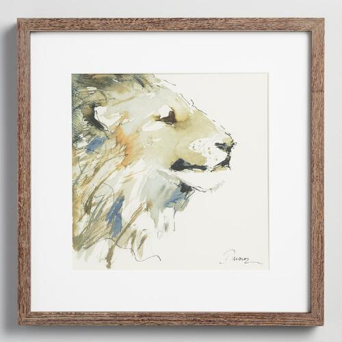 Lion by Anna Dusza with Frame