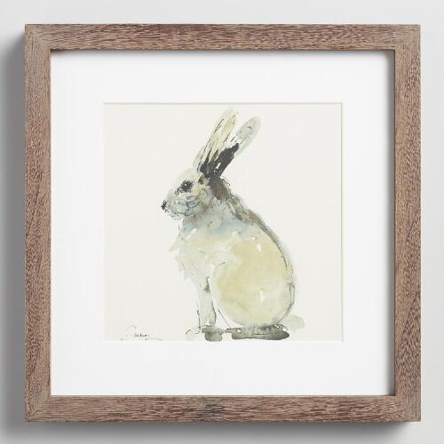 Rabbit by Anna Dusza with Frame