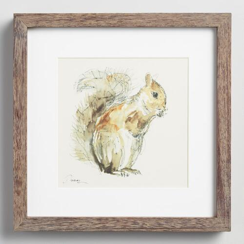 Squirrel by Anna Dusza with Frame