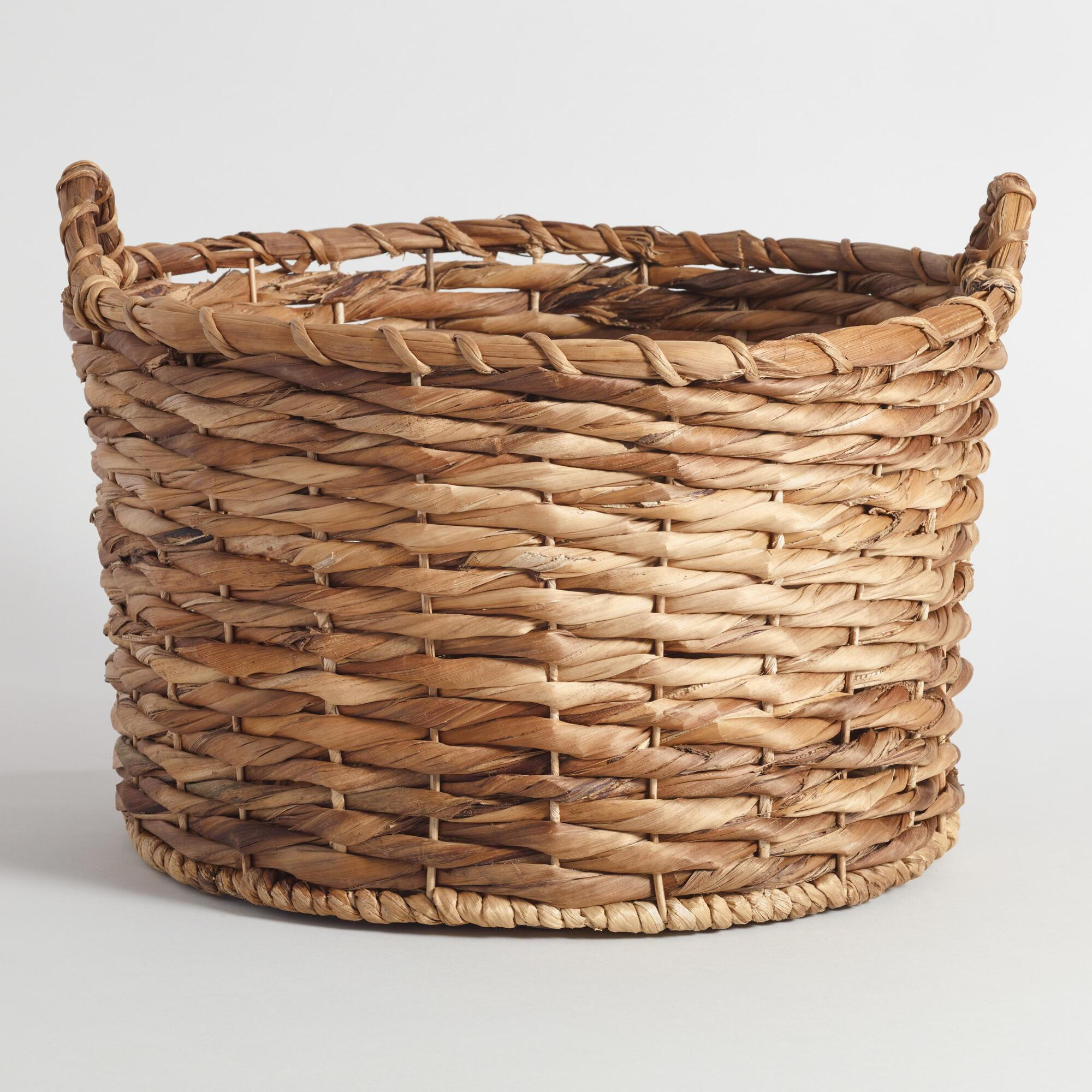 Basket Weaving With Leaves : Banana leaf round brooklyn tote basket world market
