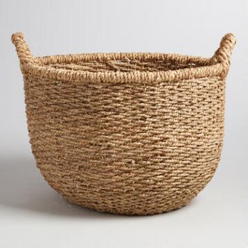 Natural Hyacinth Sabina Tote Basket