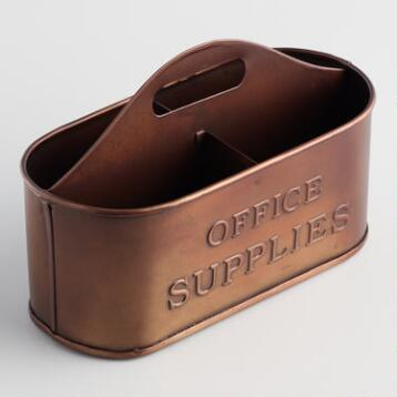 Copper Caden Office Caddy