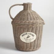 Gray Wicker Bridgette Basket
