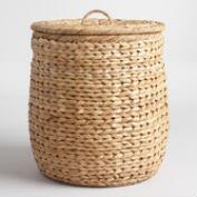 Natural Seagrass Leona Hamper Basket