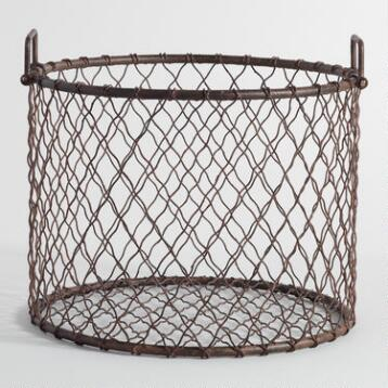 Wire Mason Log Basket
