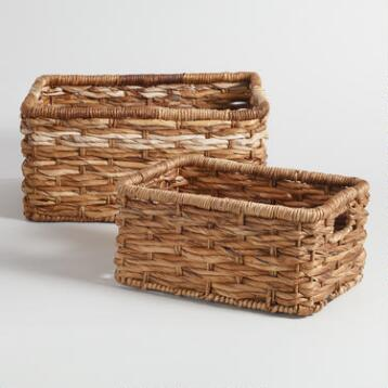 Banana Leaf Rectangular Brooklyn Baskets