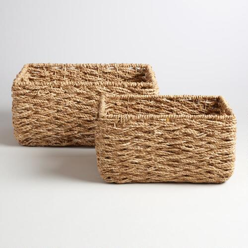 Natural Hyacinth Sabina Baskets