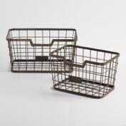 Espresso Wire Samuel Baskets